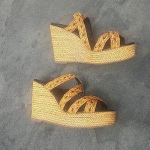 Sandra Roberts NYC wedge sandal